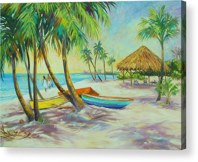 Island Acrylic Print featuring the painting Island Memories by Dianna Willman