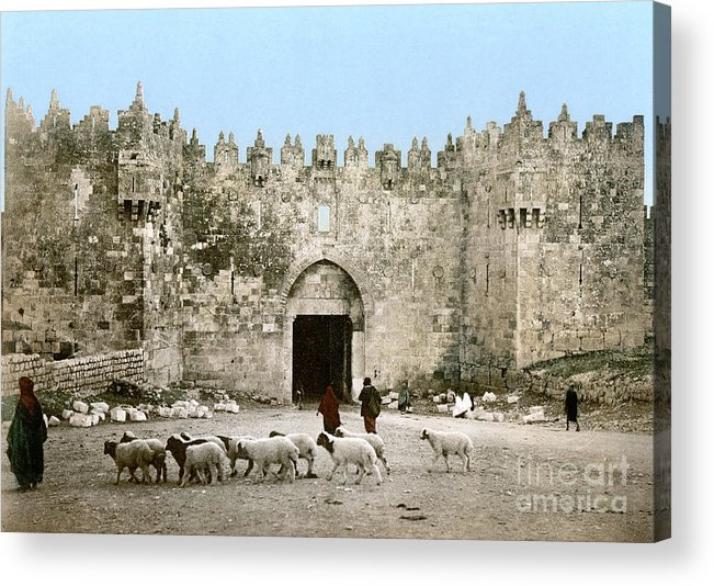 1900 Acrylic Print featuring the photograph Jerusalem: Damascus Gate by Granger