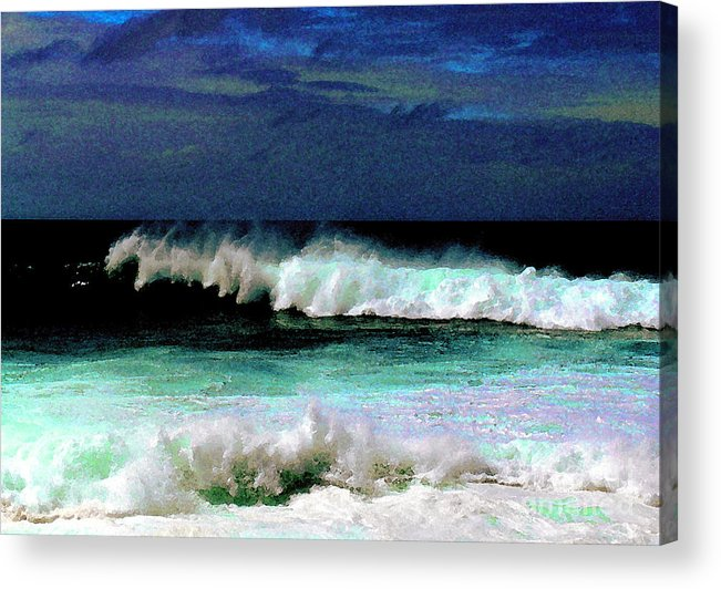 Waves Acrylic Print featuring the photograph Kaluakoi Surf by James Temple