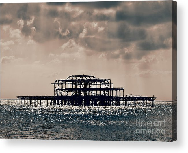 Brighton Acrylic Print featuring the photograph Light Shower by Jasna Buncic