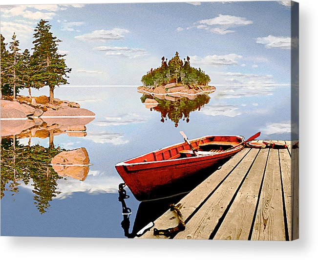 Maine Acrylic Print featuring the photograph Maine-tage by Peter J Sucy