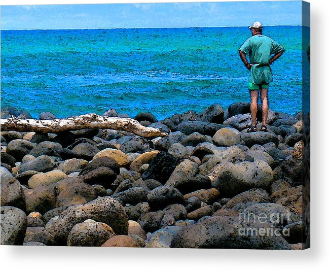 Hawaii Acrylic Print featuring the photograph Ocean Watch by James Temple