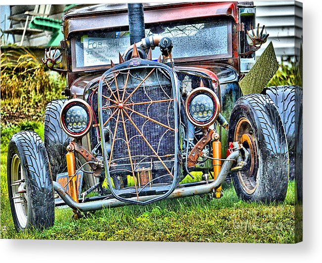 Old Acrylic Print featuring the photograph Old Muscle Car by Sandy Webster