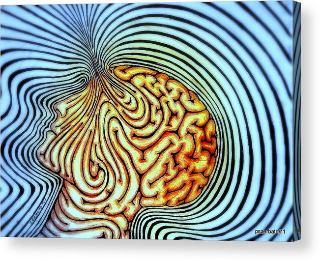 Purpose Of Our Existence Acrylic Print featuring the digital art Only We Can Shape Our Own Destiny by Paulo Zerbato