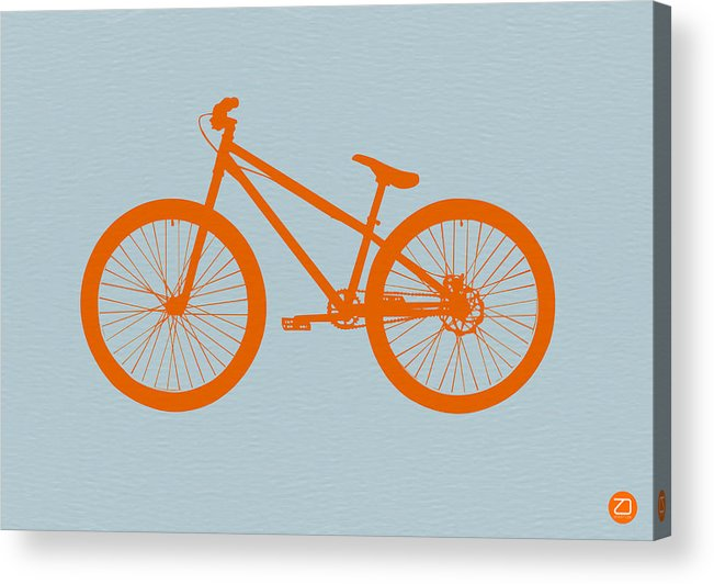 Bicycle Acrylic Print featuring the drawing Orange Bicycle by Naxart Studio