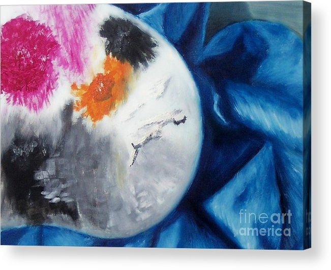 Palette Acrylic Print featuring the painting Palette by Emily Young
