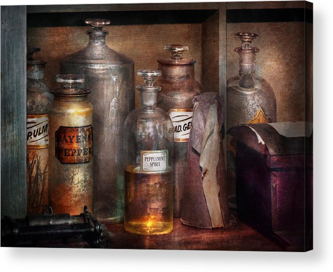 Apothecary Acrylic Print featuring the photograph Pharmacy - That's The Spirit by Mike Savad