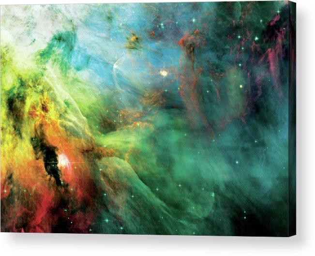 Nebula Acrylic Print featuring the photograph Rainbow Orion Nebula by Jennifer Rondinelli Reilly - Fine Art Photography
