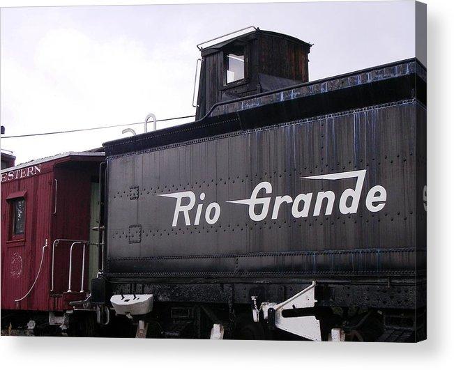 Rail Road Acrylic Print featuring the photograph Rio Grande Rail Cars by Peter McIntosh