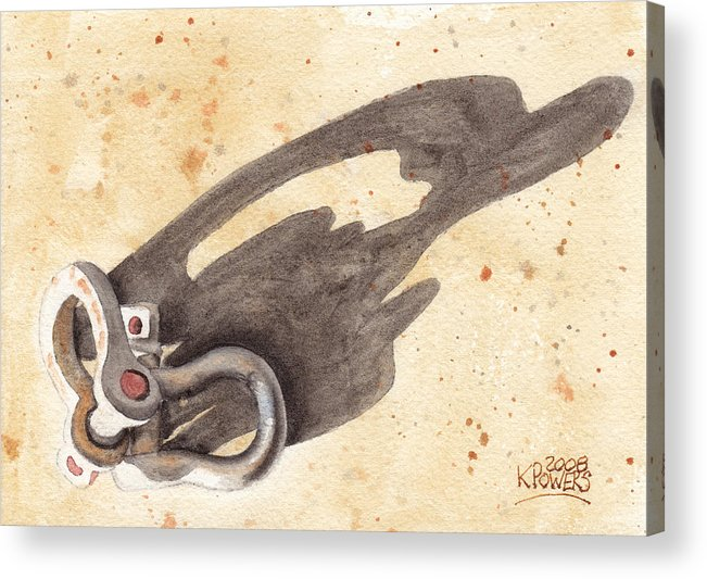 Shackles Acrylic Print featuring the painting Shackles With Five O Clock Shadow by Ken Powers