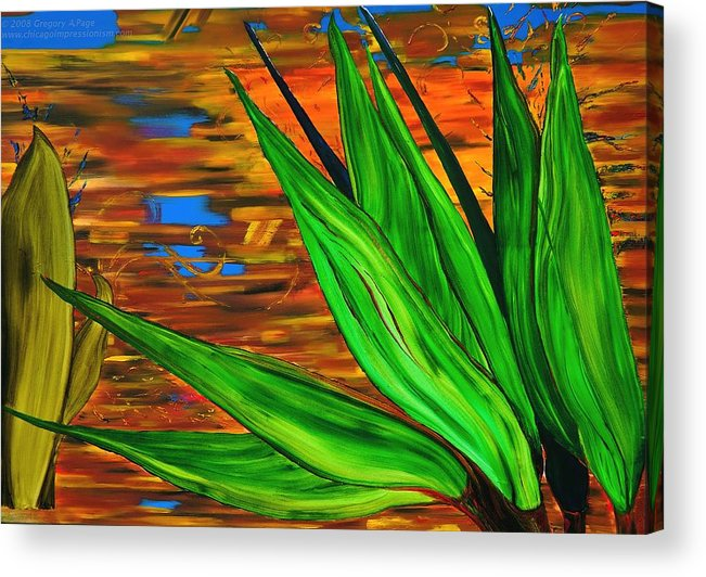 Scientology Acrylic Print featuring the painting Spiritual Beingness Of Plants And Theta by Gregory Allen Page
