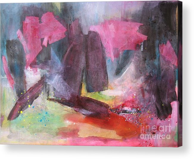 Acrylic Paintings Acrylic Print featuring the painting Spring Fever7 by Seon-Jeong Kim
