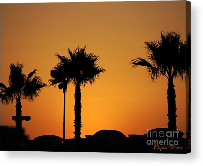 Clay Acrylic Print featuring the photograph Sunset On Socal Beach by Clayton Bruster