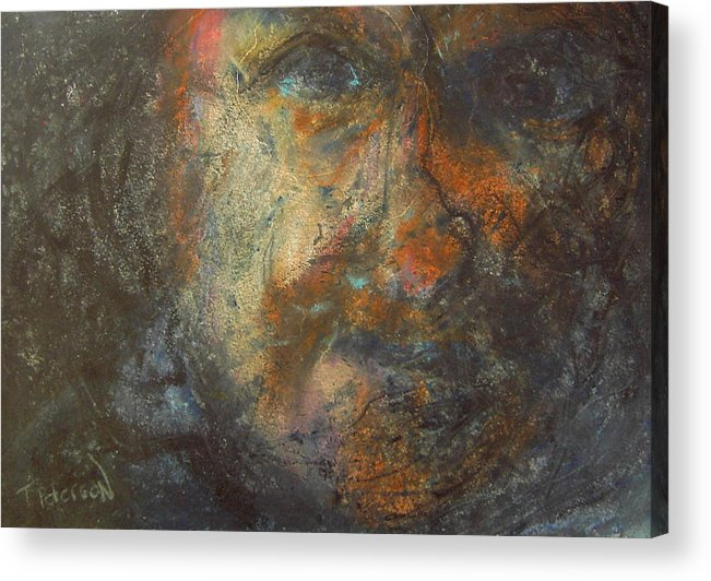 Painting Acrylic Print featuring the painting The Edge by Todd Peterson