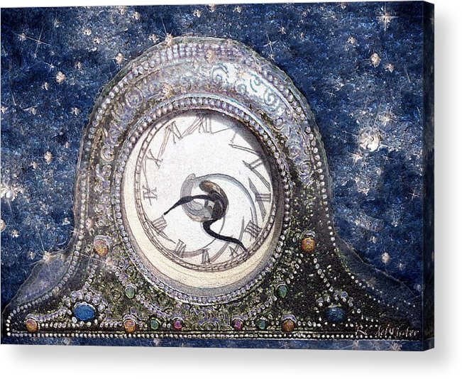 Clock Acrylic Print featuring the painting Time Warp by RC DeWinter