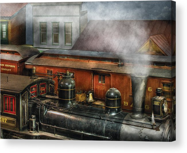 Savad Acrylic Print featuring the photograph Train - Yard - The Train Yard II by Mike Savad