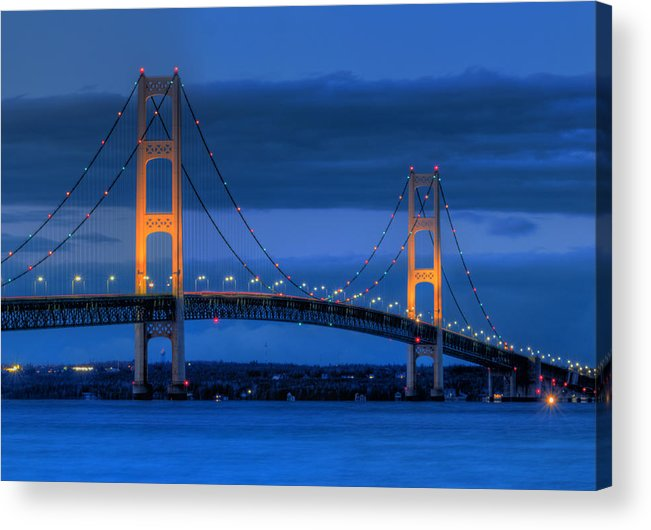 Mackinac Acrylic Print featuring the photograph Twin Towers Of Northern Michigan by Twenty Two North Photography