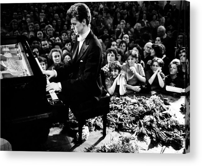 1960s Acrylic Print featuring the photograph Van Cliburn Is The First Foreigner by Everett