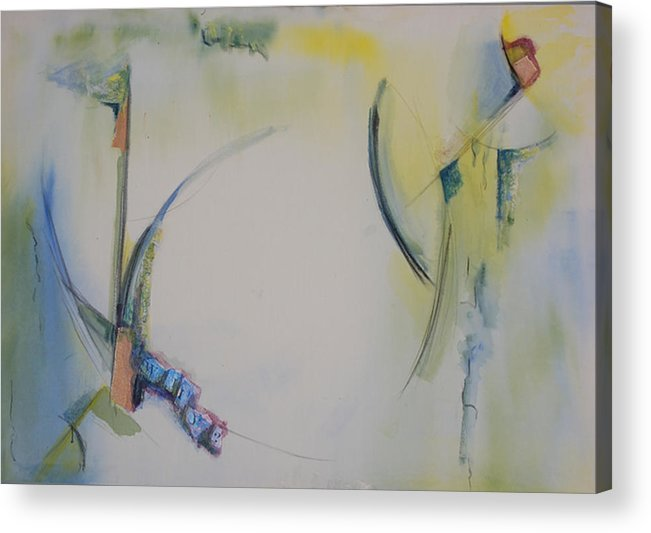 Abstract Acrylic Print featuring the painting Why by Kevin Stevens