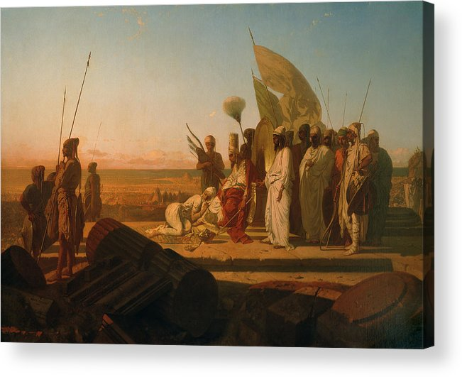 Xerxes At The Hellespont (oil On Canvas) By Jean Adrien Guignet (1816-54) Acrylic Print featuring the painting Xerxes At The Hellespont by Jean Adrien Guignet