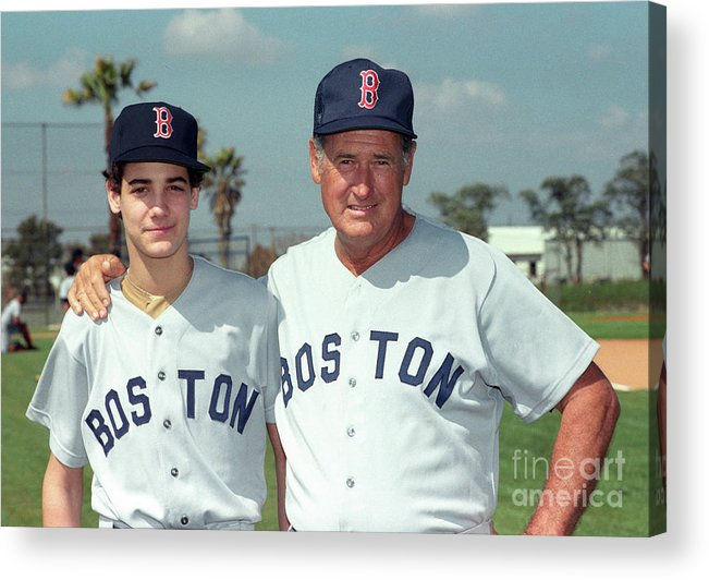 People Acrylic Print featuring the photograph Baseball - Ted Williams - File Photo by Icon Sports Wire
