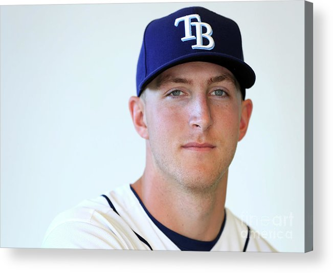 People Acrylic Print featuring the photograph Tampa Bay Rays Photo Day by Mike Ehrmann