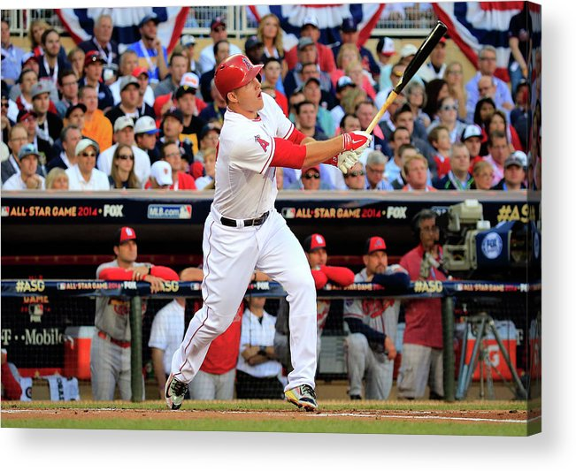 People Acrylic Print featuring the photograph Mike Trout by Rob Carr