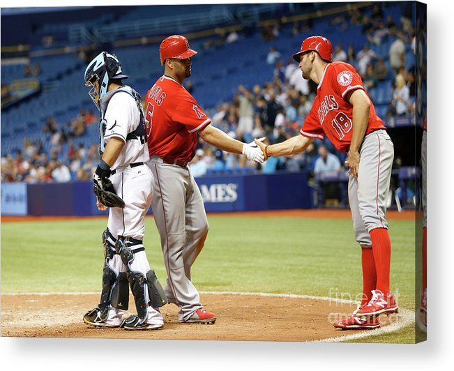 Ninth Inning Acrylic Print featuring the photograph Albert Pujols by Brian Blanco