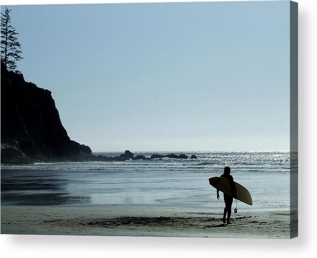 Surf Acrylic Print featuring the photograph Dude by Everett Bowers