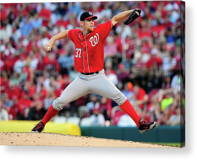Stephen Strasburg Acrylic Print featuring the photograph Stephen Strasburg by Jeff Curry
