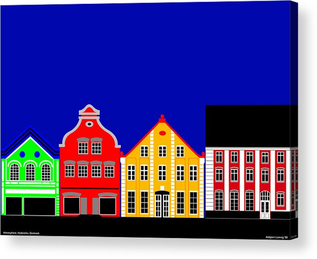 Atmosphere Acrylic Print featuring the digital art Atmosphere Haderslev Denmark by Asbjorn Lonvig