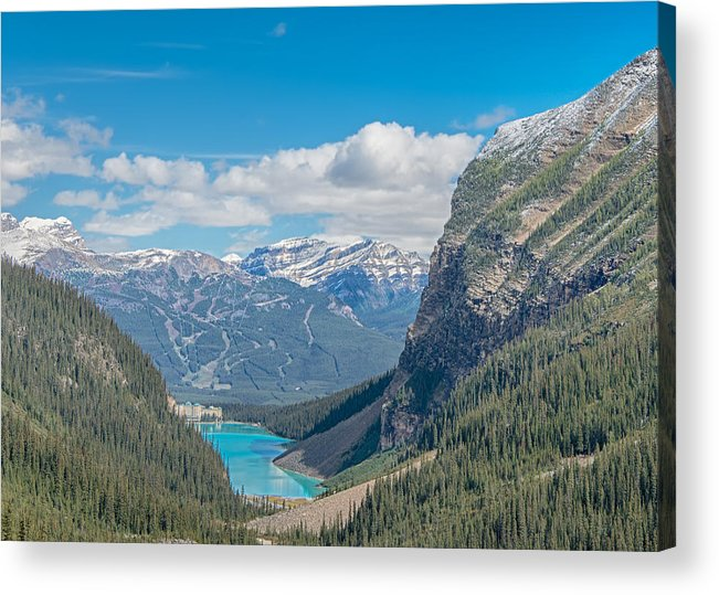 Adventure Acrylic Print featuring the photograph Chateau Lake Louise - Banff National Park - Canada by Steve Lagreca