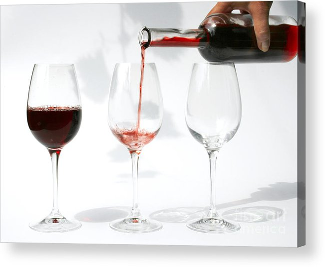 Alcohol Acrylic Print featuring the photograph Pouring Red Wine Into Glass by Patricia Hofmeester
