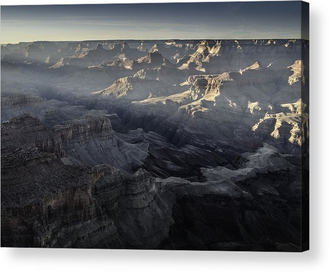 Landscape Acrylic Print featuring the photograph Sunset Over Grand Canyon by Krzysztof Wierzbicki