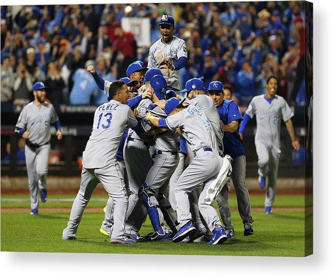 American League Baseball Acrylic Print featuring the photograph World Series - Kansas City Royals V New by Elsa