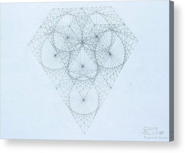 Jason Padgett Acrylic Print featuring the drawing Diamond Quanta by Jason Padgett