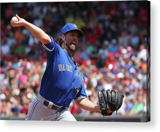 People Acrylic Print featuring the photograph Toronto Blue Jays V Boston Red Sox 5 by Jim Rogash