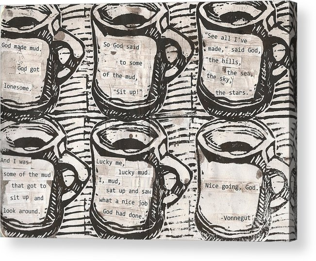 Java Acrylic Print featuring the drawing Java by William Cauthern