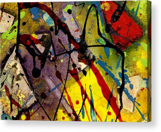 Abstract Landscape Acrylic Print featuring the mixed media Abstract 53 by John Nolan
