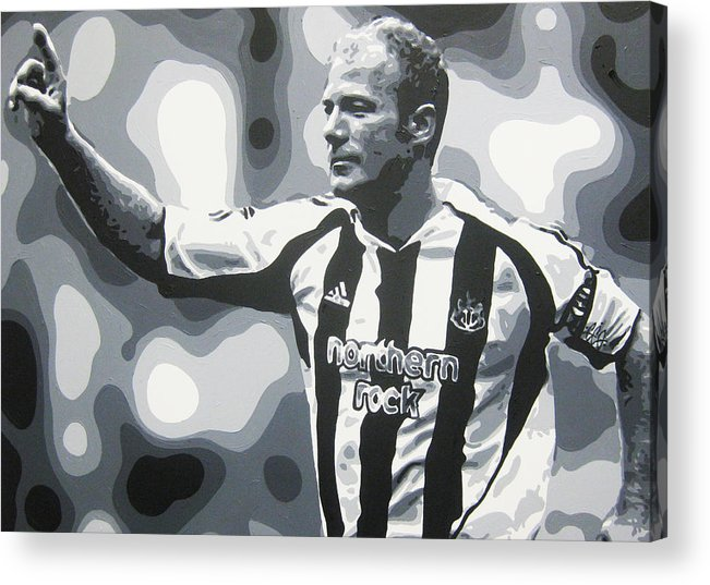 Alan Shearer Acrylic Print featuring the painting Alan Shearer - Newcastle United Fc by Geo Thomson