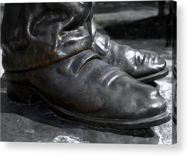 President Acrylic Print featuring the photograph Big Shoes To Fill by Kathy Barney