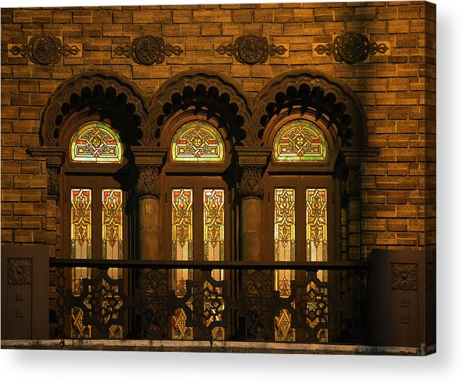 Shriners Acrylic Print featuring the photograph Bloomingdale's At Home In Chicago's Medinah Temple by Christine Till