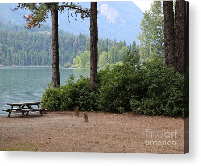 Camp Acrylic Print featuring the photograph Camp By The Lake by Carol Groenen