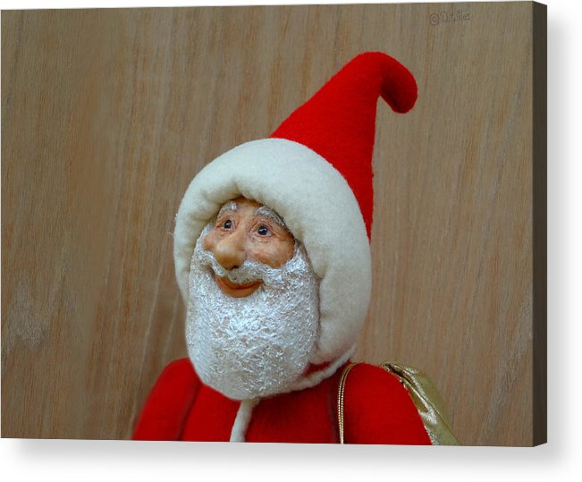 Santa Claus Acrylic Print featuring the sculpture Christmas Cheer by David Wiles