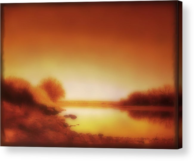 Landscape Acrylic Print featuring the photograph Dawn Arkansas River by Ann Powell