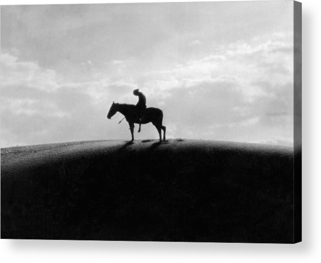 1 Person Acrylic Print featuring the photograph End Of The Trail by Underwood Archives