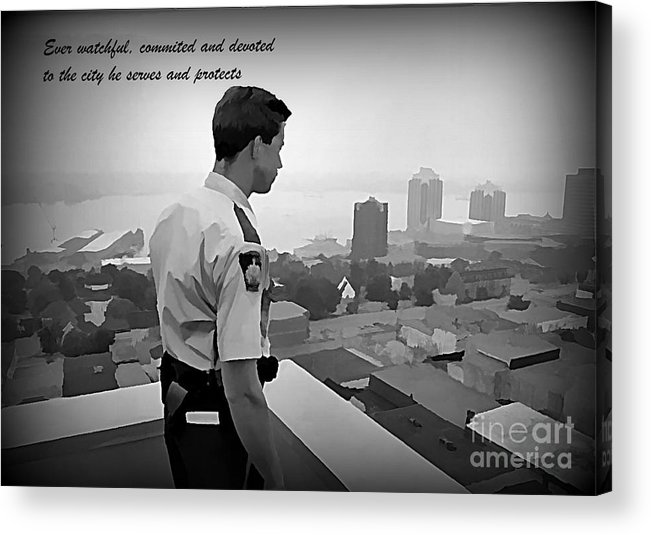 Ever Watchful Acrylic Print featuring the painting Ever Watchful by John Malone