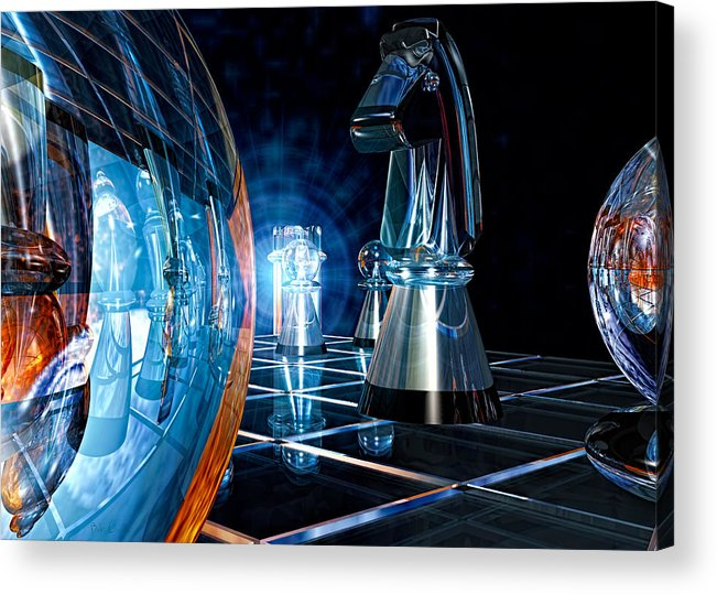 Chess Acrylic Print featuring the photograph Game Transparent by Bob Orsillo