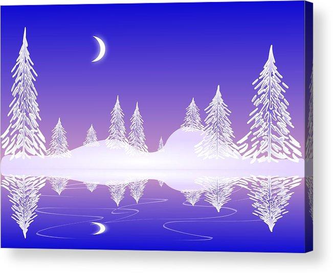 Cool Acrylic Print featuring the digital art Glass Winter by Anastasiya Malakhova