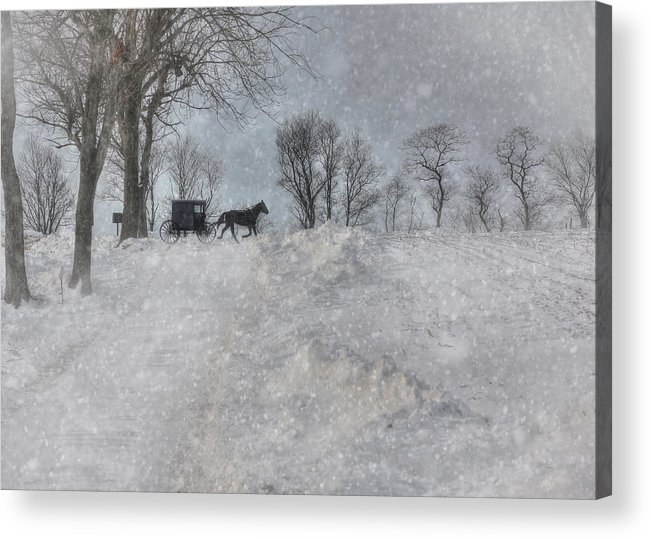 Winter Acrylic Print featuring the photograph Happy Holidays From Pa by Lori Deiter